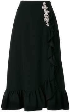Christopher Kane crystal frill skirt