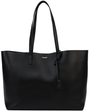 Saint Laurent Large Leather Shopper Tote - ONE COLOR - STYLE