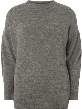 Dorothy Perkins Charcoal Tapered Sleeve Jumper