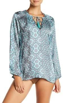 Letarte Printed Blouson Sleeve Blouse