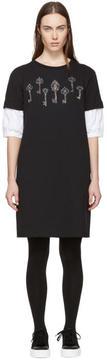 Alexander McQueen Black Puff Sleeve Magic Map Sweatshirt Dress
