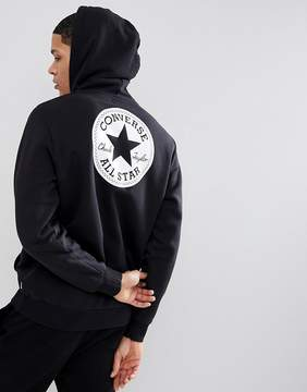 Converse Pullover Hoodie With Chuck Patch In Black 10006680-A02