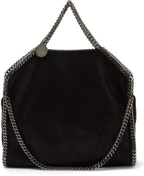 Stella McCartney Falabella Faux Suede Shoulder Bag - Womens - Black