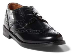 Ralph Lauren Leather Wing-Tip Oxford Shoe Black Leather 4