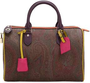 Etro Paisley Faux Leather Top Handle Bag