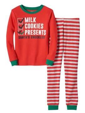 Carter's Boys Red Santa's Checklist Christmas Pajamas Milk & Cookies PJs 5