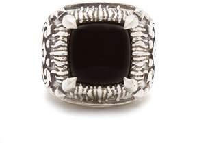 Emanuele Bicocchi Onyx-embellished sterling-silver ring