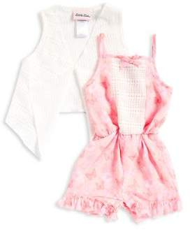 Little Lass Baby Girl's Two-Piece Vest and Romper Set