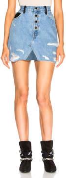 Amiri Leather Fringe Skirt