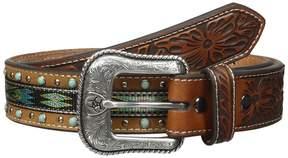 Ariat Turquoise Ribbon Belt Men's Belts