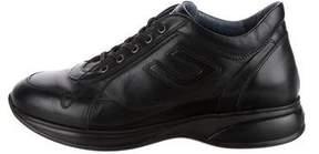 Cesare Paciotti Leather Round-Toe Sneakers