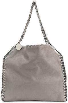 Stella McCartney Light grey Falabella faux leather silver chain tote