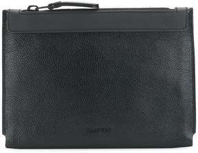 Lanvin logo embossed clutch