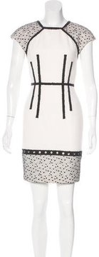 Andrew Gn Lace-Trimmed Sheath Dress