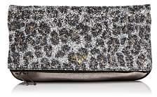 Zadig & Voltaire Leopard Print Glitter Leather Clutch