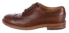 Brunello Cucinelli Leather Wingtip Brogues