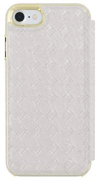 Trina Turk Basket Weave Folio Apple Phone Case - Silver - iPhone 7/8