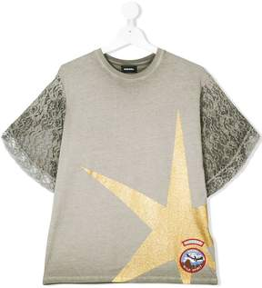 Diesel glitter star T-shirt
