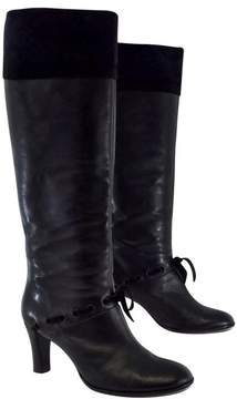 Marc Jacobs Black Leather & Suede Boots