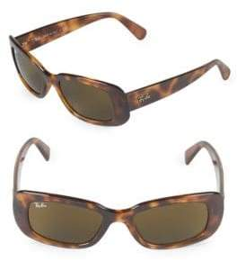 Ray-Ban 50MM Logo Rectangle Sunglasses