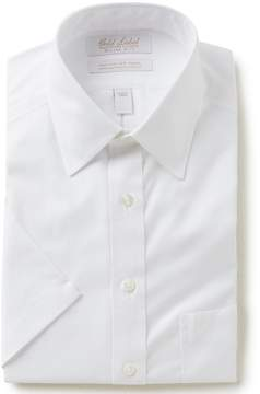 Roundtree & Yorke Gold Label Non-Iron Slim-Fit Point-Collar Short Sleeve Solid Dress Shirt