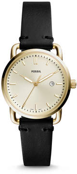 Fossil The Commuter Three-Hand Date Black Leather Watch