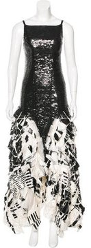 Chanel Embellished Ruffle Gown