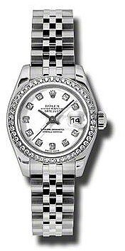Rolex Lady Datejust 26 White Dial Stainless Steel Jubilee Bracelet Automatic Watch