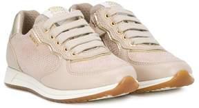 Geox snakeskin effect sneakers