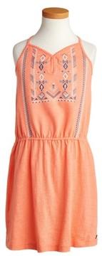 Roxy Girl's Nice Cream Embroidered Dress