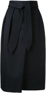 ESTNATION tie waist midi skirt