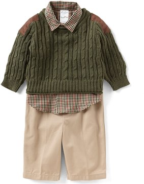 Starting Out Baby Boys 3-24 Months Pullover Sweater, Button-Down Shirt, & Pants 3-Piece Set