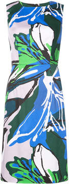 Carolina Herrera floral embroidered fitted dress