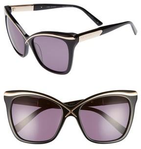 Ted Baker Women's 57Mm Square Cat Eye Sunglasses - Black