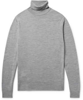 John Smedley Cherwell Mélange Merino Wool Rollneck Sweater