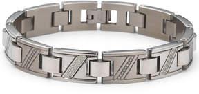 JCPenney FINE JEWELRY Men's Diamond Bracelet 1/10 CT. T.W. Stainless