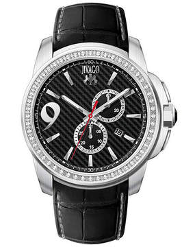Jivago Gliese Mens Black Leather Strap Watch