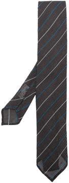 Lardini stripe embroidered tie