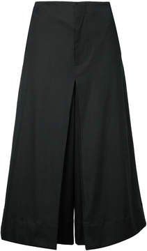 Bassike inverted pleat cropped pants