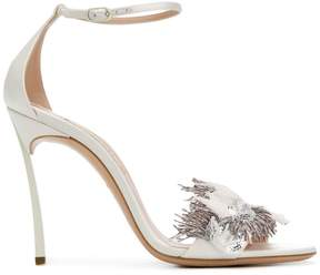 Casadei feather-embellished sandals