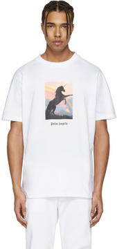 Palm Angels White Unicorns Do Exist T-Shirt