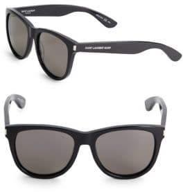 Saint Laurent Shiny, 17MM, Tinted Square Sunglasses