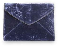 Rebecca Minkoff Leo Crushed Velvet Envelope Clutch - BLUE - STYLE