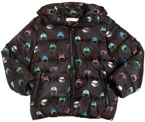 Stella McCartney Helmet Print Hooded Nylon Jacket