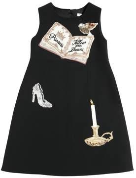 Dolce & Gabbana Princess Embellished Crepe Cady Dress