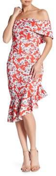 Alexia Admor Off-the-Shoulder Ruffle Hem Dress