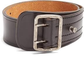 Saint Laurent Wide leather belt