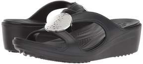 Crocs Sanrah Hammered Circle Wedge Women's Shoes