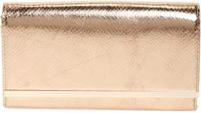 Nordstrom Metallic Snake-Embossed Faux Leather Bar Clutch