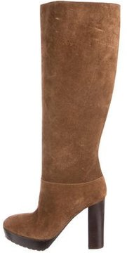 Marni Suede Round-Toe Knee-High Boots